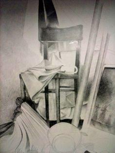 Art-fikcyjny pokój. : Martwa natura. Ołówek.