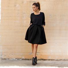 Full skirt + Crop sweater www.melroseintheoc.com #shopping #melroseintheoc #melrose #oc #sanclemente #fall #style #trend #sc #season #jacket