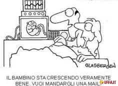 Vignetta divertente Ecografia moderna