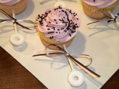Cupcake Rattle for Baby Shower