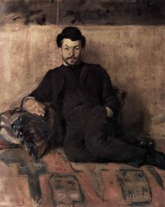 Henri de Toulouse-Lautrec - Portrait of Gustave Lucien Dennery. 1883, oil on canvas, 55 x 46 cm, Musée d'Orsay, Paris.  (French, 1864-1901)