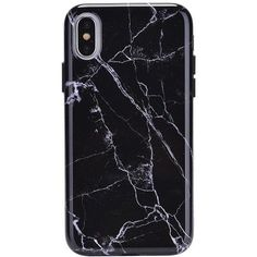 Black Marble iPhone Case (96 TND) ❤ liked on Polyvore featuring accessories, tech accessories, phone cases, iphone cover case, iphone sleeve case and marble iphone case