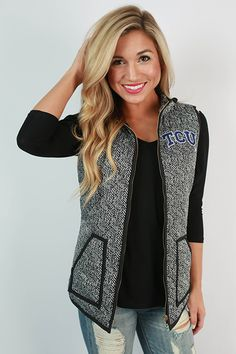 Game day can still be glamorous if you have this amazing vest!
