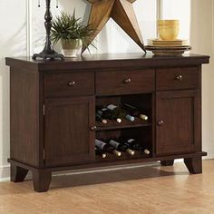 586 Server with Two Wine Racks  by Homelegance