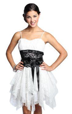 Glitter dot lace prom dress