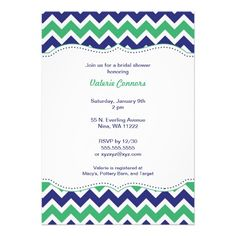 See MoreGreen & Navy Chevron Bridal Wedding Shower Invitetoday price drop and special promotion. Get The best buy