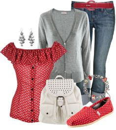 """Polka -Dot Toms"" by tracireuer on Polyvore"