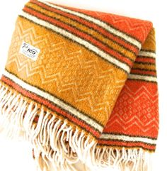 #Vintage #Faribo #Wool Throw #Autumn Colors Mesa 50 x 60 100% Virgin Wool Fall #MN #faribault