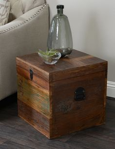Albion Small Recycled Wood Box