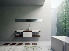 lavabo precioso en el baño moderno