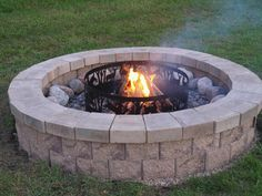 Build your own fire pit. My husband will be very busy this summer.