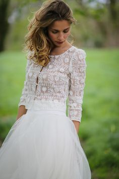 Charlie-jupe Hendaye-veste Marie Laporte 2017 #wedding #mariee #mariage #robe #creatrice #paris #dress #marielaporte
