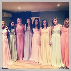 Cap-sleeve Pastel Bridesmaid Dresses