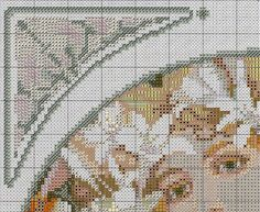 Borduurpatroon Kruissteek Mucha *Embroidery Cross Stitch Pattern ~Flower (1897) 9/10~