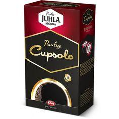 Paulig Cupsolo -kahvikapseleita, Juhla Mokka (myös tumma paahto), Brazil, Presidentti tumma paahto, Cappuccino, Moccachino, Vanilla Latte, Caramel Latte tai Tazza-kaakaot n. 6 e