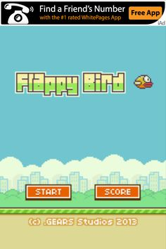 Welcome to my new addiction, Flappy Bird. if im not pinning im playing this #sorrynotsorry