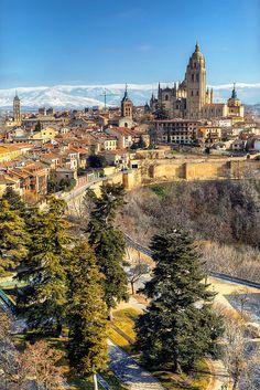 Storks in Segovia,Spain,  #travel
