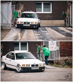 Basic BMW e36 sedan slammed on some Kerscher Carmona wheels