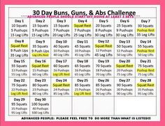 30 day buns, guns, and abs challenge for June Who's in! 30 day buns, guns, and abs challenge for June Who's in! Month Workout Challenge, November Challenge, 30 Day Workout Challenge, Monthly Challenge, Challenge Ideas, Running Challenge, January, Body Challenge, Challenge Accepted