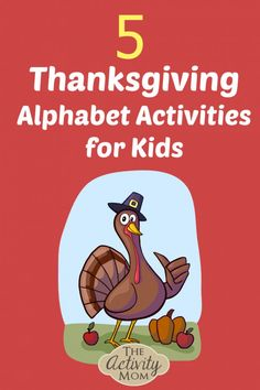 Here are 5 of my favorite Thanksgiving alphabet activities to practice letter identification and letter sounds in a fun way. Alphabet Activities Kindergarten, Teaching The Alphabet, Alphabet For Kids, Letter Activities, Kids Learning Activities, Fun Learning, Thanksgiving Activities For Kids, Kids Thanksgiving, Thanksgiving Recipes