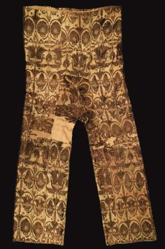 A rare pair of silk lampas trousers, Sogdiana, Central Asia, 7th/8th Century - Sotheby's