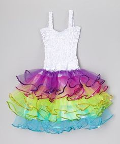 Look what I found on #zulily! White Rainbow Lily Dress - Infant, Toddler & Girls #zulilyfinds by natasha