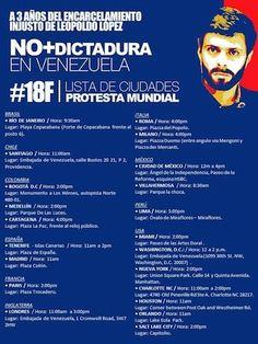 #NoMásDictadura: el apoyo mundial a la marcha del 18F al cumplirse tres años del encarcelamiento de Leopoldo López - Infobae