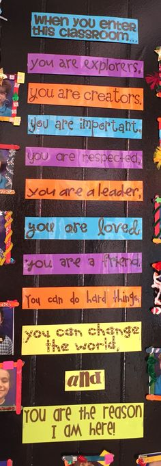 On classroom door at Bourke St year 1. When you enter this classroom ...