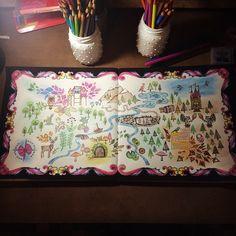Floresta Encantada Mapa Tesouro Johanna Basford Forest MapJohanna Coloring BookJohanna
