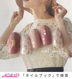 botanical nailInstagram→@a.nailjam|ネイルデザインを探すならネイル数No.1のネイルブック Cute Toe Nails, Cute Nail Art, Gel Nail Art, Gel Nails, Minimalist Nails, Korean Nail Art, Nails Now, Animal Nail Art, Gel Nagel Design