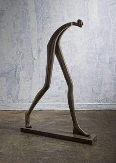 Isabel Miramontes Contemporary Figurative Sculpture: Big Step 2016 What is Art ? Sculpture Metal, Abstract Sculpture, Surrealism Sculpture, Ceramic Sculpture Figurative, Sculpture Garden, Contemporary Sculpture, Contemporary Decor, Metal Art, Wood Art