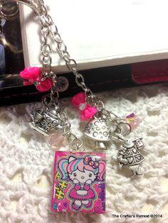 Pink Alice in Wonderland  Filofax or Purse Charm
