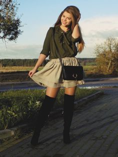 Mis Marli: Koszula khaki ZAFUL