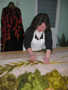 Designer Feltmaker. Designer garments and art in lightweight wool and silk