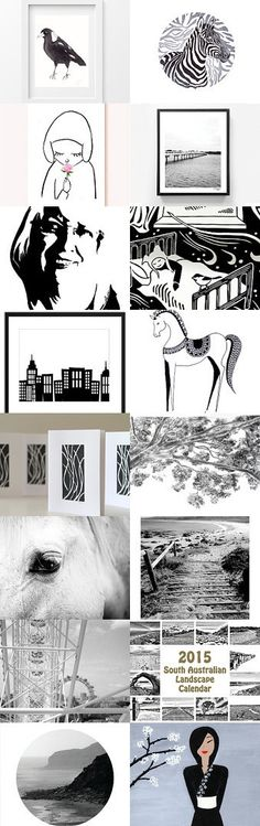 Black, white and sepia art by Jan Hornett on Etsy--Pinned with TreasuryPin.com
