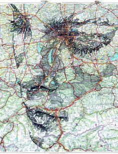 WANT!!!!!!!  Map Portraits by Ed Fairburn