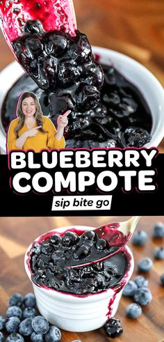 Make an easy blueberry compote with fresh blueberries for pancakes, pastries, cheesecake and other dessert toppings, and more. It's a simple recipe to make with fresh blueberries. | sipbitego.com Blueberry Compote, Fruit Compote, Clean Eating Plans, Clean Eating Recipes, Lifestyle Group, Healthy Lifestyle, Easy Desserts, Delicious Desserts, Vegetarian Meal Prep