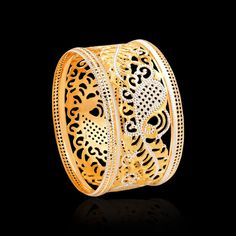 Laser Cut Gold Bangles Online - Zar Jewels
