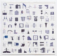 """Erin Wilson - Shape Study #1, 2011, 36"""" x 36"""" (available)"""