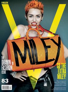 Miley Cyrus Gets Rebellious for V Magazine #83 Covers | Fashion Gone Rogue: The Latest in Editorials and Campaigns