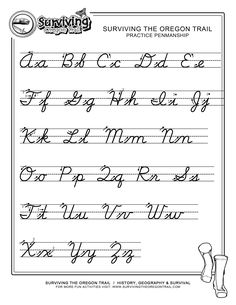 Printables Learn Cursive Worksheets cursive handwriting practice and on pinterest free print alphabet letter worksheets abcs printable writing worksheet