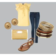Blue and Gold, created by jamierenay.polyvore.com
