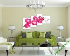 Bộ tranh đồng hồ treo tường phòng khách AmiA 258 khoác lên mình bộ cánh áo hồng…