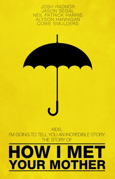 one of my favorite shows made into an amazing poster. love that they used the umbrella, but transferred the yellow to the background color instead of the primary umbrella color. so creative