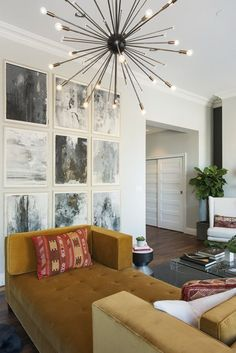 Paintings by William Logan....A Showstopper Apartment in the Silk Building — Professional Project | Apartment Therapy