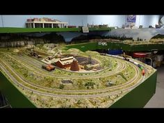 Large N Scale Gauge Train Layout of Midwest N Pioneer Model Railroad RR Club awesome trains - YouTube
