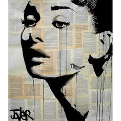 Loui Jover Print - And Her Bird Can Sing ($215) ❤ liked on Polyvore featuring home, home decor, wall art, wood wall art, wood home decor, bird home decor, wooden home decor and bird wall art