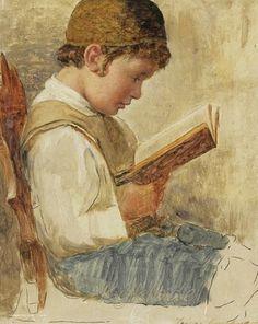 Isidor Kaufmann (Hungarian-Jewish: 1853-1921) - A Young Student