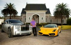 Spending a great day at my Spring valley, San Diego Estate with my Roll-Royce and Lamborghini Gallardo