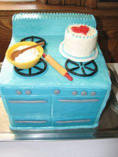 Bridal Kitchen-Themed Shower Cake